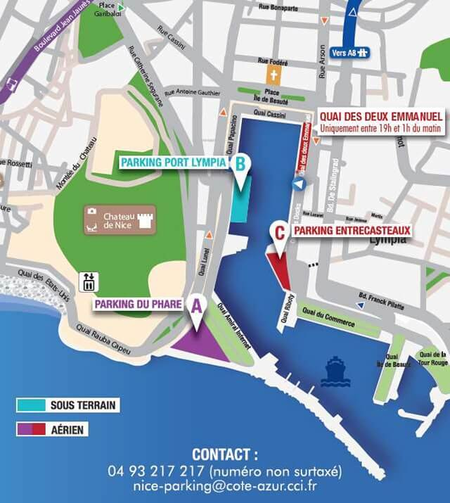 Où se garer la nuit à Nice ?