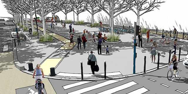 Réaménagement de la place salengro à Montpellier